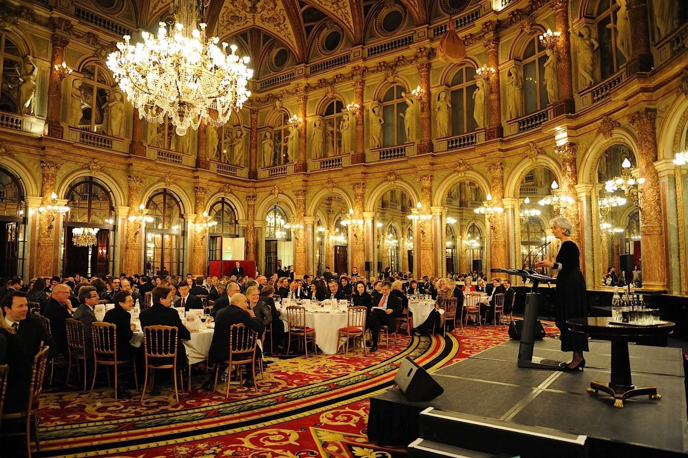 Lagarde à Grand hotel Intercontinental Paris