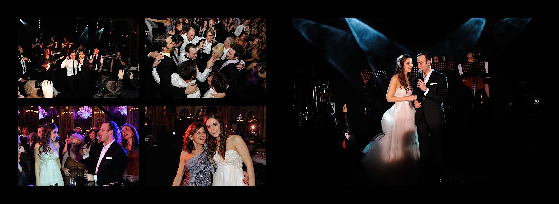 plusieurs photos de soirée d'un mariage à Paris
