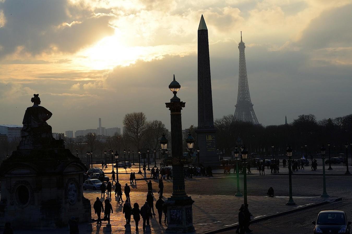 Lumière d'hiver, place Concorde, Paris