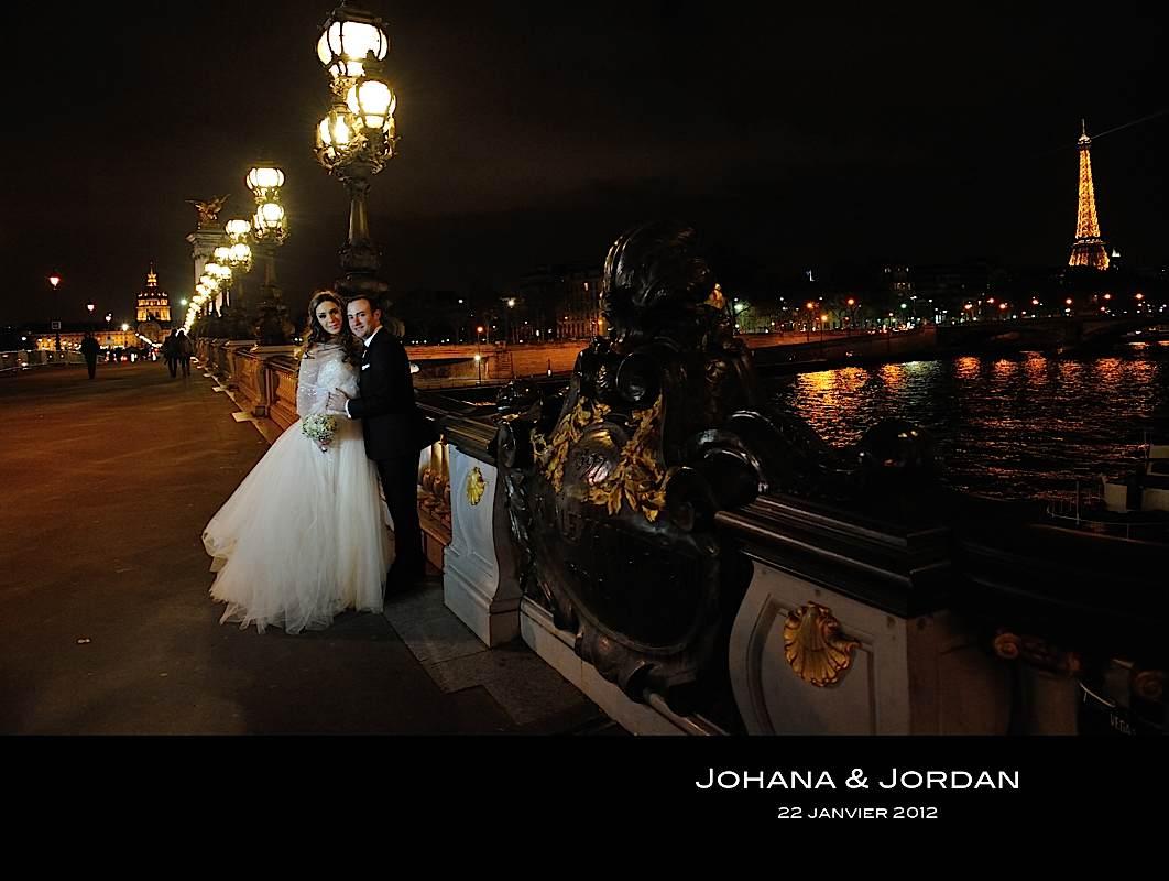 Photos de johana et jordan sur un pont à paris