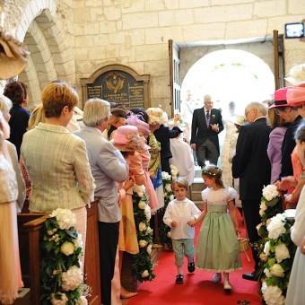 entrée de la mariée et son père