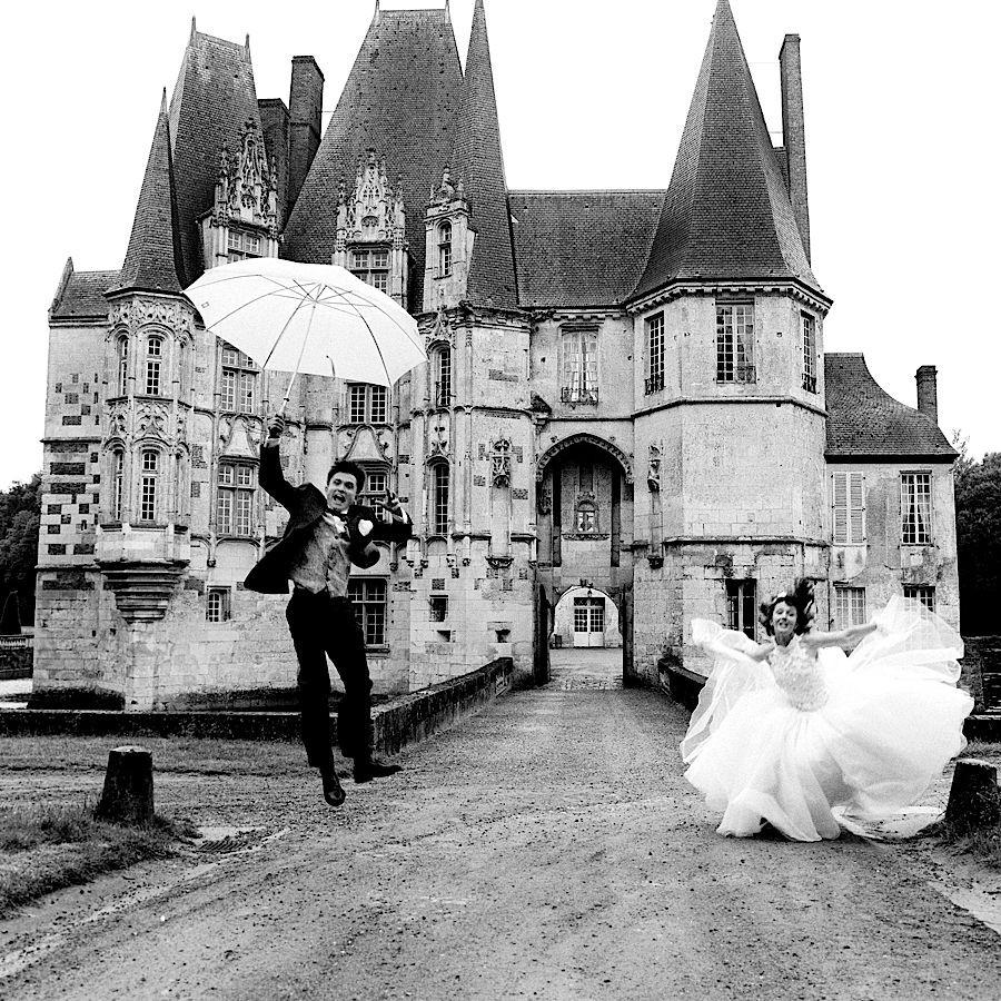 Un beau mariage sous la pluie en Normandie