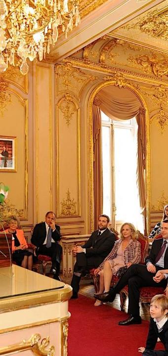 Discours de Monsieur le Maire devant les invités