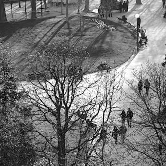 Paris en noir et blanc vue de l'hôtel Crillon