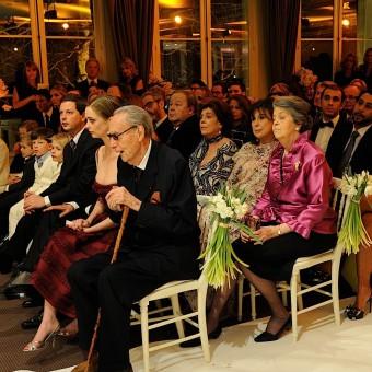 Les invités pendant la cérémonie