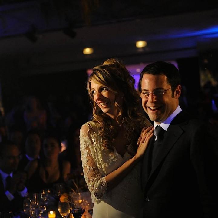 Les mariés pendant diaporama mariage