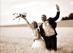Couple marié et heureux