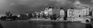 photo de paris en noir et blanc