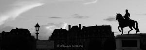 Vue panoramique paris de nuit