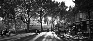 Vue panoramique paris noir et blanc